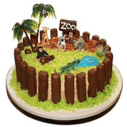Zoo Cake 3kg Eggless