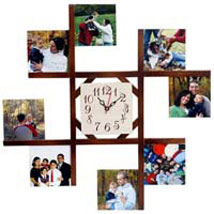 8 Photo Wall Clock: Diwali Gifts to Aligarh