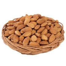 Almonds Basket: Womens Day Gift Baskets