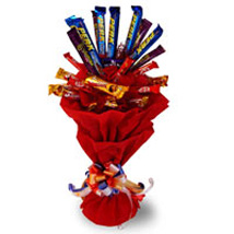 Assorted Chocolates Bouquet: Chocolate Bouquet for Kids