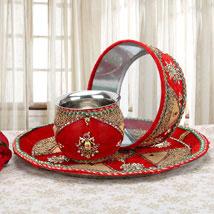 Auspicious Gift: Karwa Chauth Pooja Thali