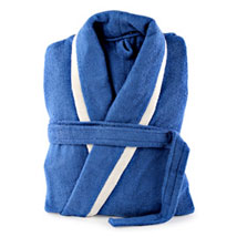 Blue and White Bathrobe For Him:  Romantic Gifts for Anniversary