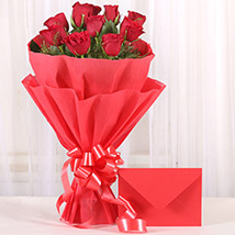Bouquet N Greeting Card: Flowers to Kadapa