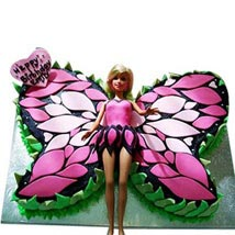 Butterfly Stylish Barbie Cake: Send Cakes to Vasai