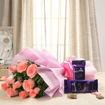 Cadbury Carnival EXFNP117: Womens Day Flowers & Chocolates