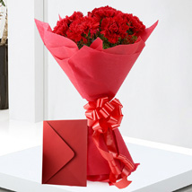 Carnations N Greeting Card: Flowers & Cards Faridabad