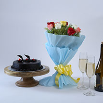 Chocolate Cake and Roses: Send Gifts for Dussehra