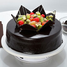 Chocolate Fruit Gateau: Send Chocolate Cakes