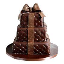 Chocolaty Wedding Cake: Wedding Cakes to Bengaluru