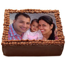Delicious Chocolate Photo Cake: Send Chocolate Cakes to Hyderabad