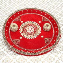 Divinity of the Red: Pooja Thali to Hyderabad