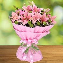 Exotic Charisma of Pink: Send Anniversary Gifts for Bhaiya Bhabhi
