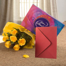Flower Hamper N Greeting Card: Send Flowers to Kakinada