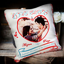 For the Love Birds: Personalised Cushions - Anniversary