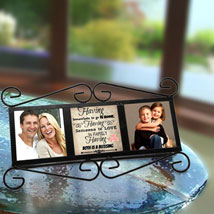 Happy Family Personalized Frame: Valentine Personalised Gifts for Him