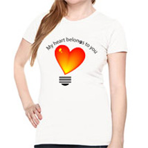 Heart Beats for Girls: Personalised T Shirts