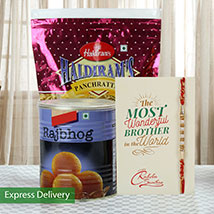 Imperial Rakhi Hamper: Rakhi With Sweets Noida