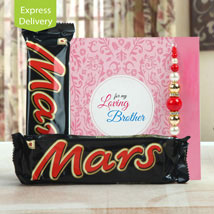Love you to Mars and back: Send Rakhi With Sweets to Noida
