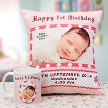 Memories The Personalized Combo: Send Personalised Cushions for Friendship Day