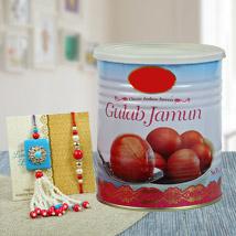Mesmerizing Rakhi Combo: Send Rakhi With Sweets to Paradeep