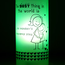 Mothers Hug Bottle Lamp: Send Home Decor to Chennai
