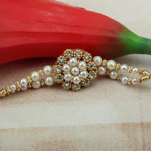 Ornamental Rakhi: Send Pearl Rakhi