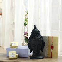Peaceful Buddha Rakhi: Rakhi to Panihati