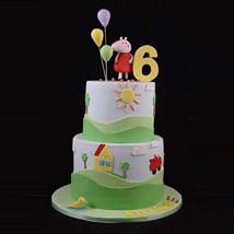 Peppa Pig House Cake: Multi Tier Cakes