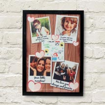 Personalized Cherishing Love Frame: Mothers Day Personalised Gifts