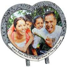 Photo Jigsaw Puzzle Frame Heart: Thank You Photo Frames