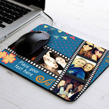 Picture Strip Personalized Mouse Pad: Birthday Personalised Gifts