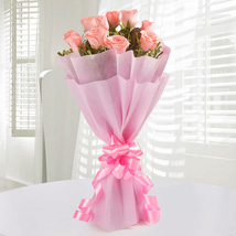 Pink Roses Bunch: Send Flower Bouquets to Mumbai