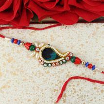 Pretty Feather Rakhi: Ethnic Rakhi