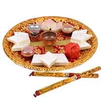 Puja Thali and Dandiya: Send Pooja Thali for Navratri