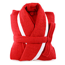Red and White Bathrobe For Her: Romantic Gifts for Anniversary