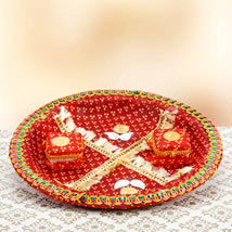 Red Devotion: Send Pooja Thali to Gurgaon