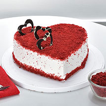 Red Velvet Heart Cake: Send Anniversary Cakes for Wife