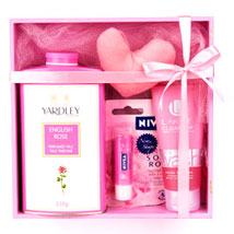 Refreshing Pink Hamper: Cosmetics & Spa Hampers for Wedding