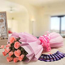Rejoice Combo: Womens Day Send Flowers & Chocolates