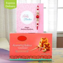 Scrumptious rakhi delight: Rakhi with Sweets