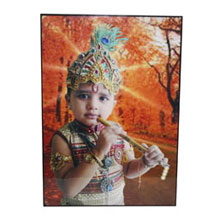 Small Personalized Mounted Photo: Send Personalised Photo Frames - Rakhi