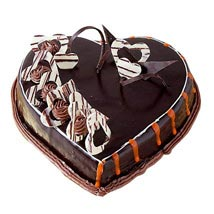Special Delicious Heart Shape Truffle Cake: Chocolate Cakes Hyderabad