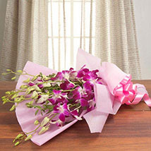 Splendid Purple Orchids: Wedding Gifts Hyderabad