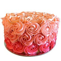 Three Row Rose Cake