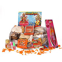 Welcome Wealth And Prosperity Home: Send Diwali Pooja Thali to Lucknow
