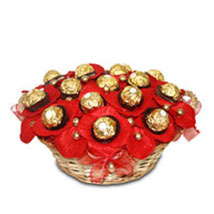 Yummy Ferrero Basket: Gift Baskets to Chennai