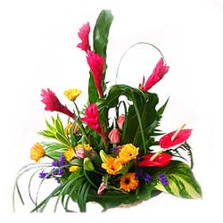 Basket of Mixed Flowers  MAL
