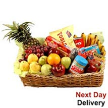 Food Hamper With Fruits nwy: Send Gifts to Norway