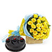 Yellow Roses and Cake Premium