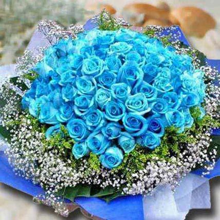 99 Blue Roses